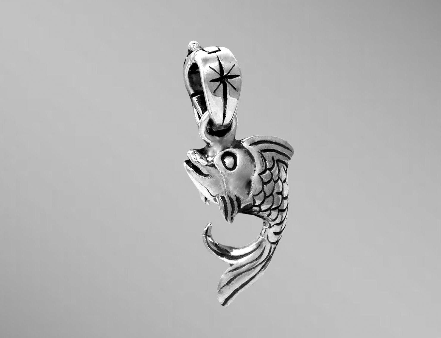 chroniclesofkate and rock fish koi clay by art pendant pool resin polymer